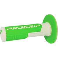 Manopole Progrip 801 Dd Closed End Bianco Verde Fluo