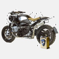 Unit Garage Kit Bmw R Nine-t 1660 - 2