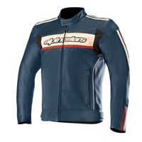 Alpinestars Dyno V2 Leather Jacket Blue