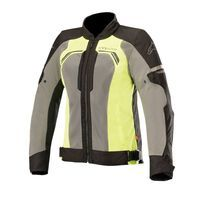 Alpinestars Stella Durango Air Jacket Black Dark Gray Yellow Fluo Donna