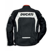 Ducati Hi-tech 13 Giacca In Pelle Traforata Nero Bianco
