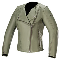 Alpinestars Alice Women's Leather Jacket Green
