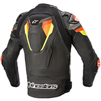 Alpinestars Atem V4 Leather Jacket Red Yellow