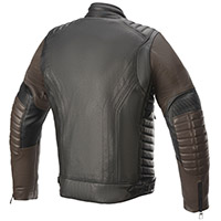 Alpinestars Burstun Leather Jacket Brown