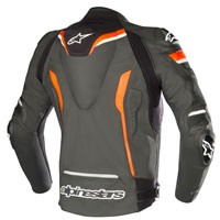 Alpinestars Celer V2 Leather Jacket Black Fluo Red