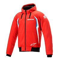 Alpinestars Honda Chrome V2 Sport Hoodie Rosso Blu