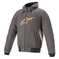 Alpinestars Chrome Sport Hoodie Gris Tar Orange