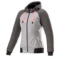 Chaqueta Alpinestars Stella Chrome Sport gris rosado
