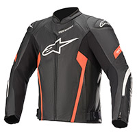 Alpinestars Faster Airflow V2 Leather Jacket Red