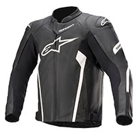 Alpinestars Faster V2 Leather Jacket Black White