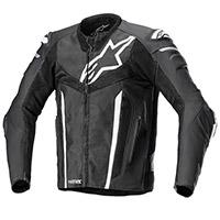 Alpinestars Fusion Leather Jacket Black White