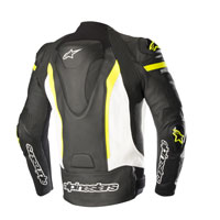 Alpinestars Giacca In Pelle Missile Tech Air Compatibile Giallo - 2