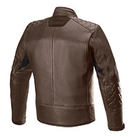 Alpinestars Hoxton V2 Leather Jacket Brown