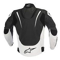 Alpinestars Jaws Leather Jacket Nero Bianco