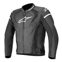 Alpinestars Jaws V3 Leather Jacket Black White