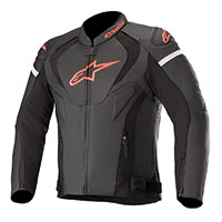 Alpinestars Jaws V3 Leather Jacket Black Red