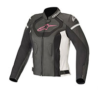 Alpinestars Stella Jaws V3 Leather Jacket Fuchsia Lady