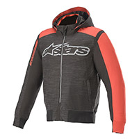 Sweat à Capuche Alpinestars Rhod Windstopper Noir Rouge