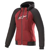 Alpinestars Stella Chrome Sport Hoodie rojo