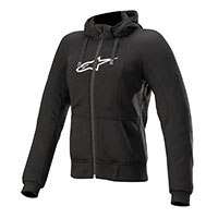 Alpinestars Stella Chrome Sport Hoodie Black Lady