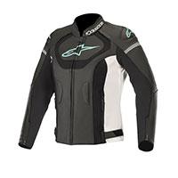 Alpinestars Stella Jaws V3 Leather Jacket Teal Lady
