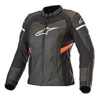 Alpinestars Stella Kira Leather Jacket Black Red Lady
