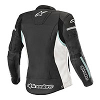 Alpinestars Stella Kira Leather Jacket White Teal Lady