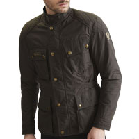 Belstaff Mcgee Motorcycle Jacket Black Brown