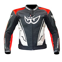 Giacca Pelle Berik Sport Air Rosso Fluo Bianco