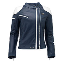 Blauer Charlie Lady Leather Jacket Blue White