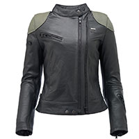 Blauer Charlie Lady Leather Jacket Black Green