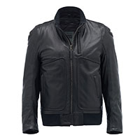 Blauer Thor 1.0 Leather Jacket Black