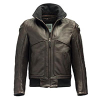 Blauer Thor Leather Jacket Brown