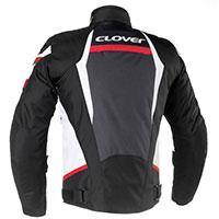 クローバー エアブレード 3 ジャケット ホワイト レッド