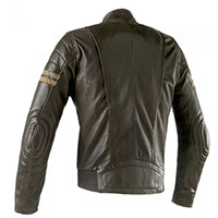 Clover Blackstone Leather Jacket Olive