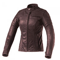 Clover Bullet Pro Leather Lady Jacket Brown