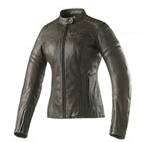 Clover Bullet Pro Leather Lady Jacket Olive