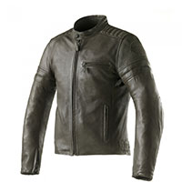 Clover Bullet Pro Leather Jacket Olive