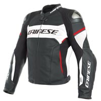 Blouson En Cuir Dainese Racing 3 D-air® Rouge