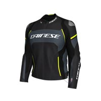 Dainese Racing 3 D-air® Leather Jacket Yellow
