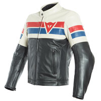 Dainese  8-track Leather Jacket White