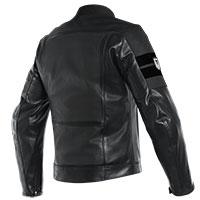 Dainese chaqueta de cuero perforada 8 track negro