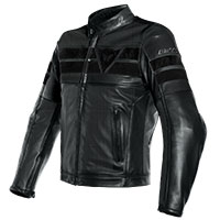 Dainese 8-track Leather Jacket Black
