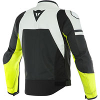 Dainese Agile Leather Jacket Blanc Jaune