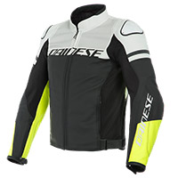 Dainese Agile Perforated Leather Jacket Yellow