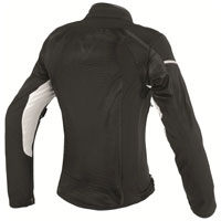 Dainese Air Frame D1 Lady Tex Jacket Black White