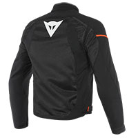 Dainese Air Frame D1 Tex Jacket Black Fluo Red
