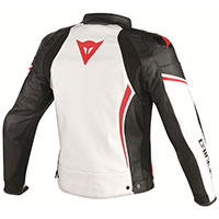 Dainese Assen Perforated Leather Jacket White