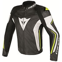 Dainese Assen Perforated Leather Jacket Yellow