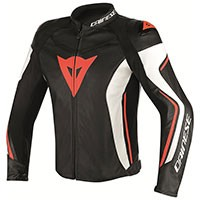 Dainese Assen Perforated Leather Jacket Red